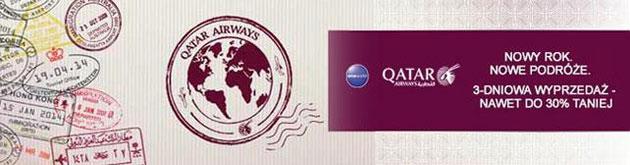 Promocja noworoczna Quatar Airways